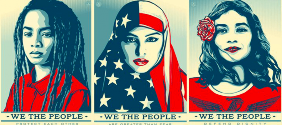 """""""We the People"""" protest poster series created for the Women's March 2017"""