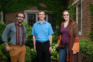 Left to Right: Greg Valdespino, Jonathan Lyon, and Ada Palmer (Sandra Park not pictured).