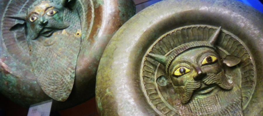 Bronze shields of Greek origin.