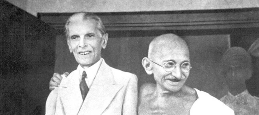 Mahatma Gandhi and Muhammad Ali Jinnah, 1944.