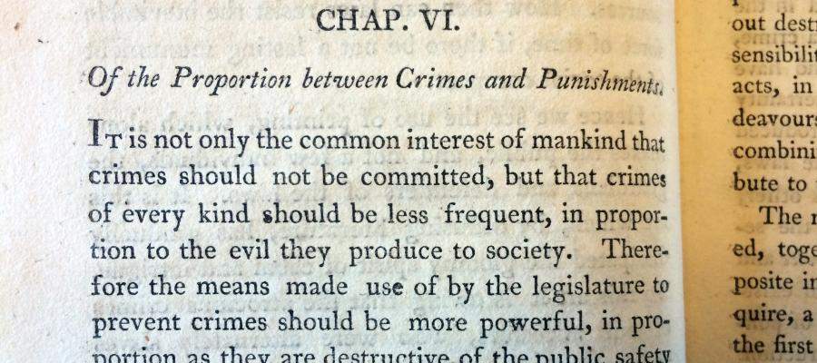 From Cesare Beccaria's On Crimes and Punishments, the first articulation of deterrence-based justice