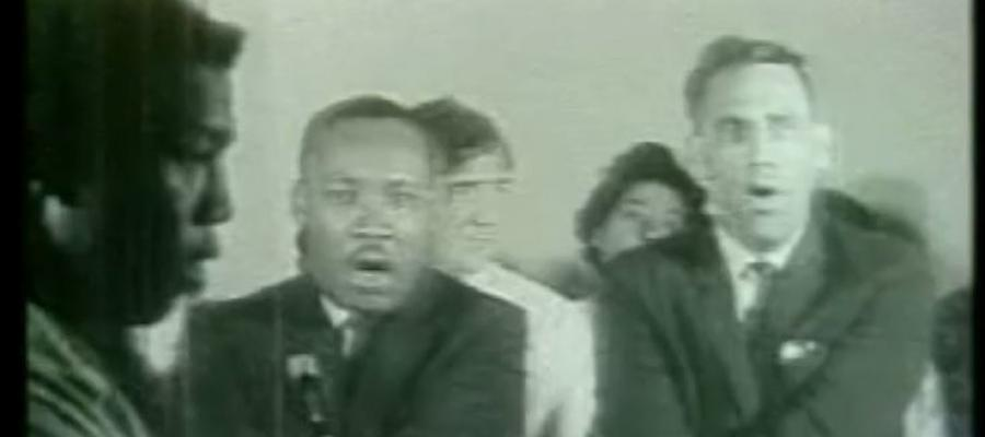 Prof. Thomas Holt (left) with Dr. Martin Luther King Jr., Danville, VA, 1963