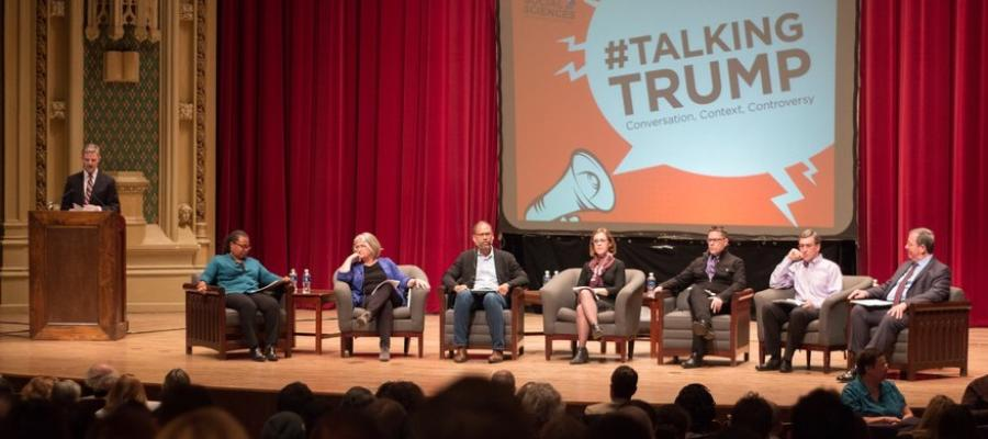 Historians Adam Green and Faith Hillis join other colleagues from the Social Sciences Division to discuss the Trump presidency.